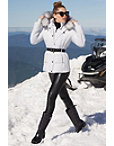 Belted Faux-fur Trim Puffer Jacket Photo