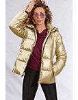 Metallic Puffer Jacket Photo