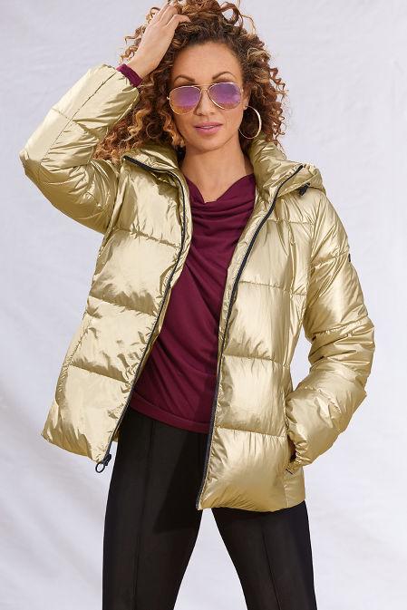 Metallic Puffer Jacket image