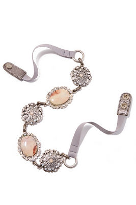 Blush stone jewel belt