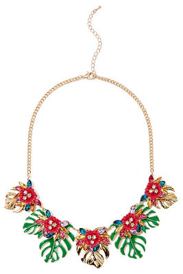 Bright palm leaves necklace