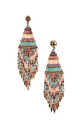 Chandelier multibead earrings
