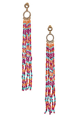 Multicolor bead dangle earrings