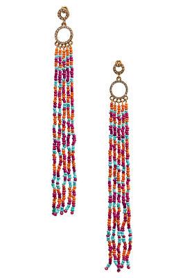 Multicolor bead dangle earrings