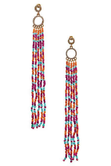 Multicolor bead dangle earrings image