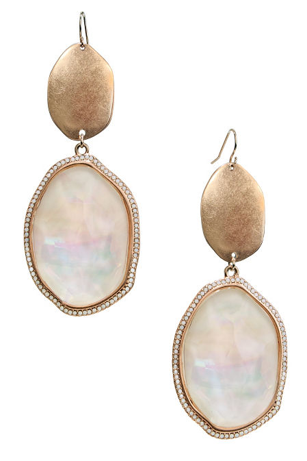 Rose gold oval earrings image