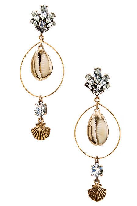 Seashell hoop earrings image