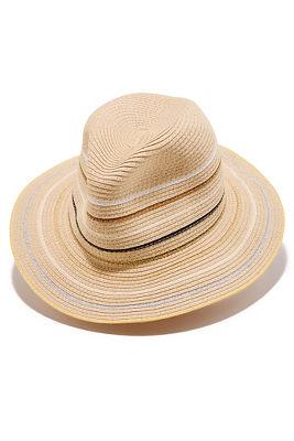 Thin stripe fedora hat