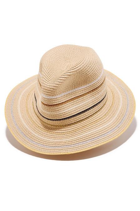 Thin stripe fedora hat image