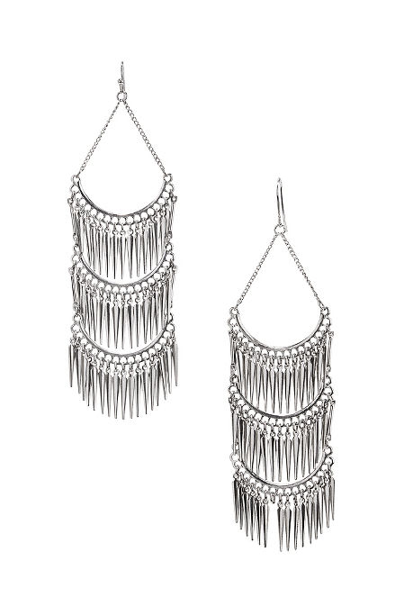 Tiered fringe earrings image