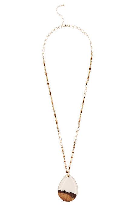 Wooden pendant necklace image