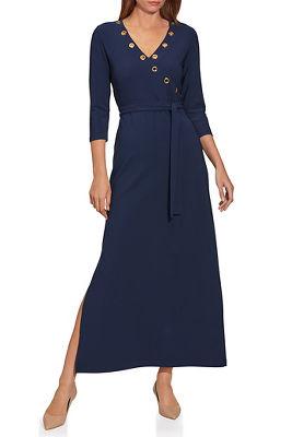 Beyond Travel™ Grommet-Neck Dress