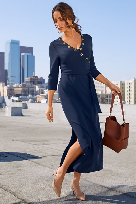 Beyond Travel™ Grommet-Neck Dress image