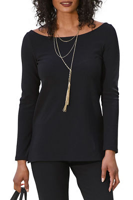 beyond travel™ ballet-neck top