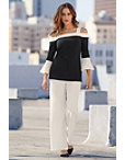 Beyond Travel™ Flare Sleeve Color-block Top Photo