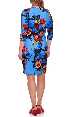 Floral Print Faux-Wrap Dress