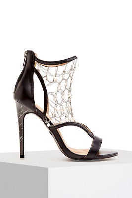 Pearl Detail Chain Heel