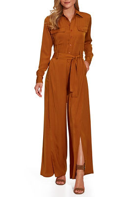 Button Utility Jumpsuit