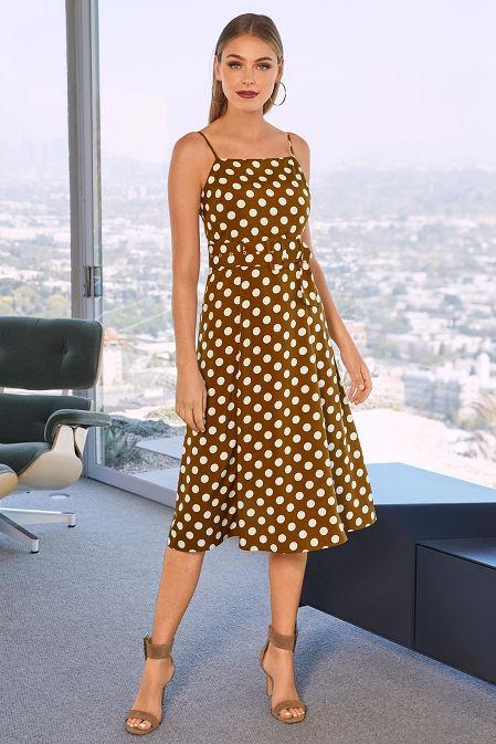 Polka Dot Midi Dress image