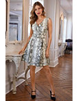 Python Belted Dress Photo