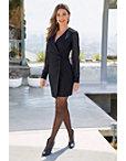 Tuxedo Chiffon-sleeve Dress Photo