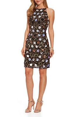 Sleeveless Flower-Embellished Dress