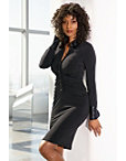Ruched Collared Button-down Dress Photo