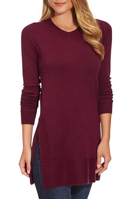 Tunic Side-Slit Sweater