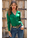 Covered Button Charm Blouse Photo
