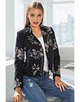 Embroidered Studded Tweed Moto Jacket Photo