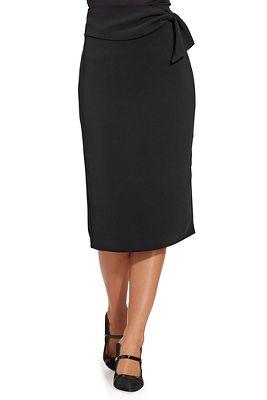 High Waist Sash-Belt Skirt
