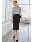 High Waist Sash-belt Skirt Photo