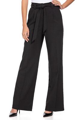 high waist tie crepe pant