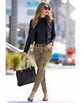 Leopard Five Pocket Ankle Jean Photo