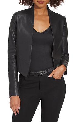 Vegan Leather Open Jacket