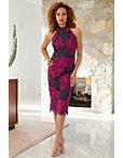 High Neck Lace Midi Dress Photo