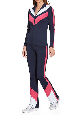 Chevron Colorblock Sport Warm-Up
