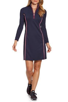 Piping Detail Zip-Up Sport Dress