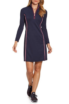 Piping Detail Zip-Up Sport Dress