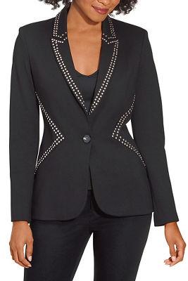 Studded ponté blazer