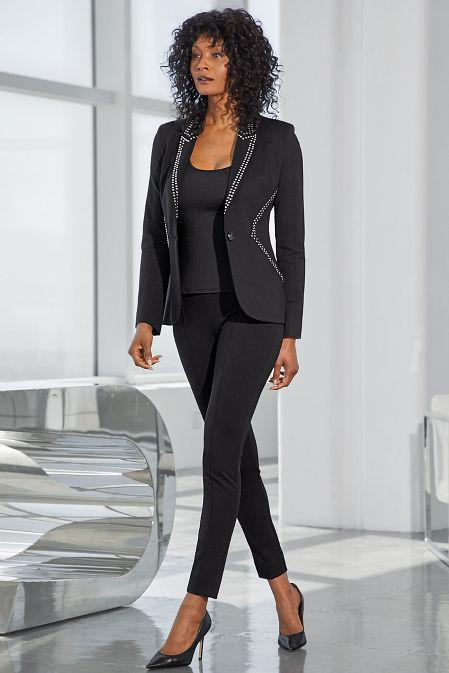 Studded ponté blazer image