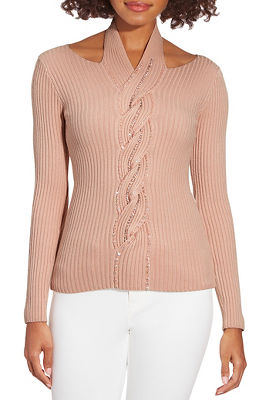Ribbed Sequin Detail Sweater