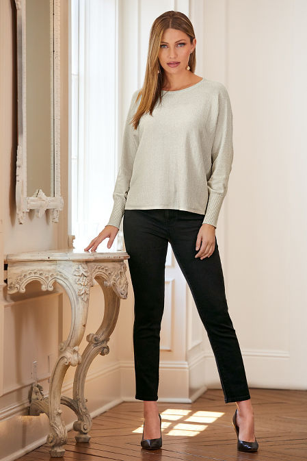 Metallic Relaxed Sweater image