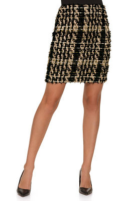 Above-The-Knee Tweed Skirt