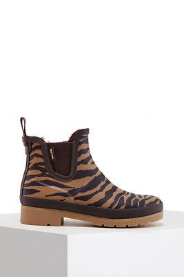 Tiger Print Rain Boot