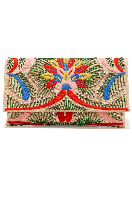 Beaded embroidered clutch image