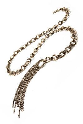 chain fringe wrap belt