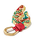 Floral Embroidered Buckle Belt Photo