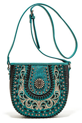 Hardware embroidered western bag
