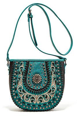 hardware embroidered western bag